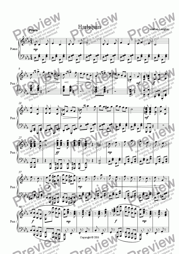 page one of Harlequin