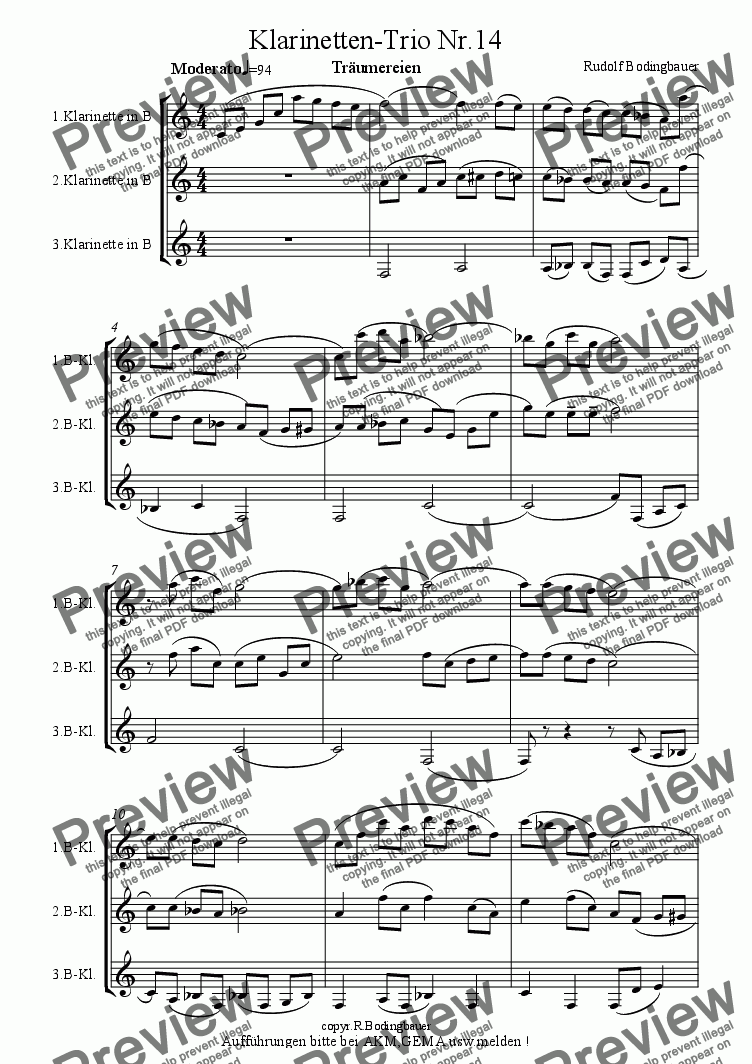 page one of Saxophon-Trio Nr.14