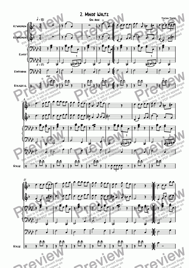 page one of Sax book 02 (Minor waltz)