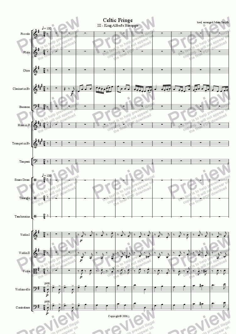 page one of Celtic Fringe - 3rd Mvt - King Alfred's Hornpipe
