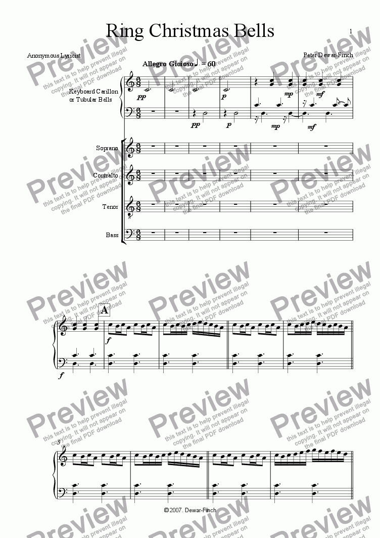 page one of Ring Christmas Bells