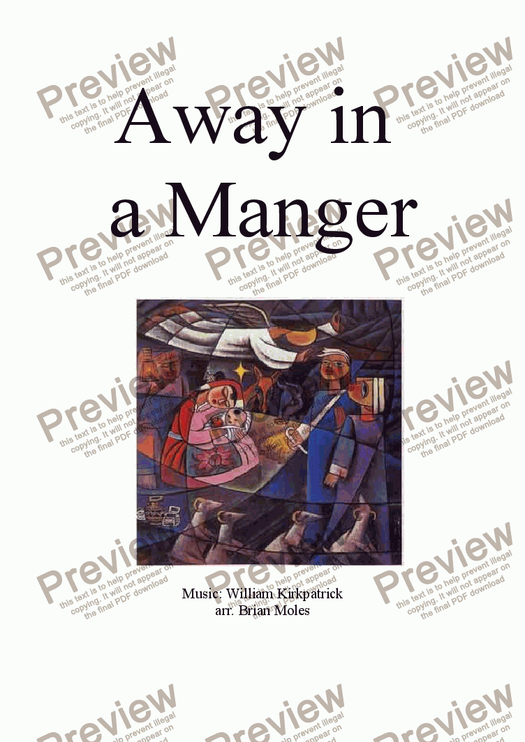 page one of Away in a Manger