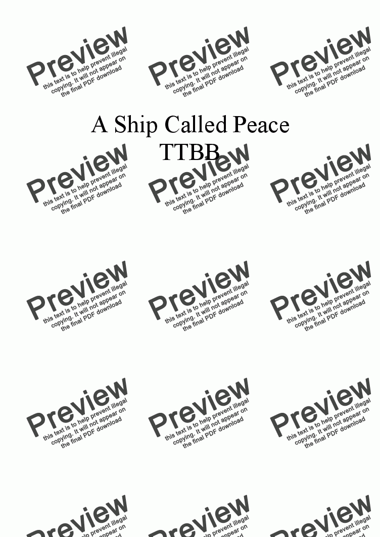 page one of A Ship Called Peace