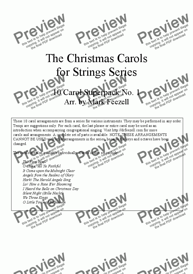page one of Christmas Carols (Viola Quartet / Ensemble), Vol. 1