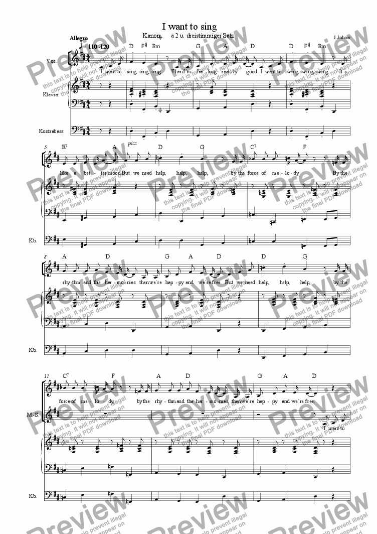 page one of Choir 03  (I want to sing)