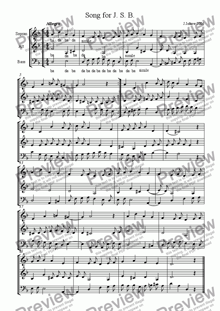page one of Choir 04  (Song for J.S.B.)