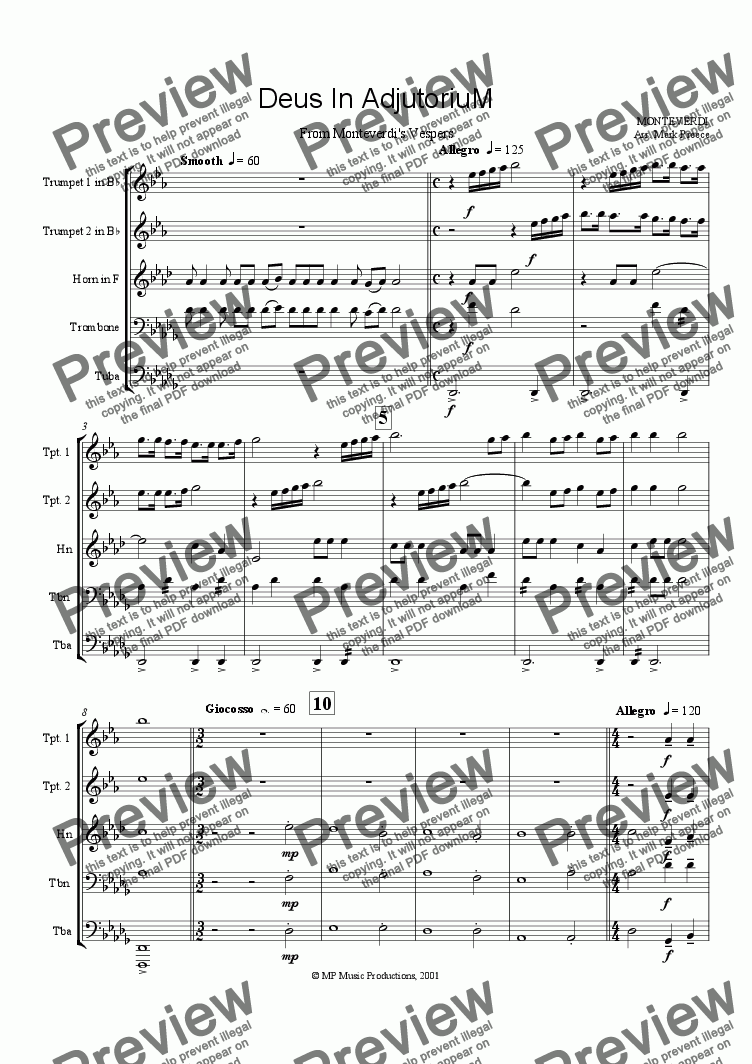 page one of Monteverdi - Vespers (Opening)