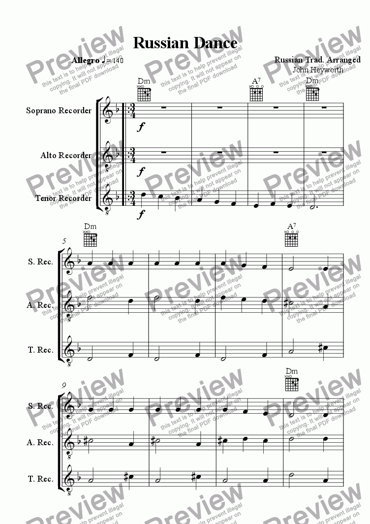 page one of Russian Dance