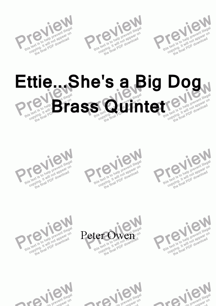 page one of Ettie   She's a Big Dog (revised)