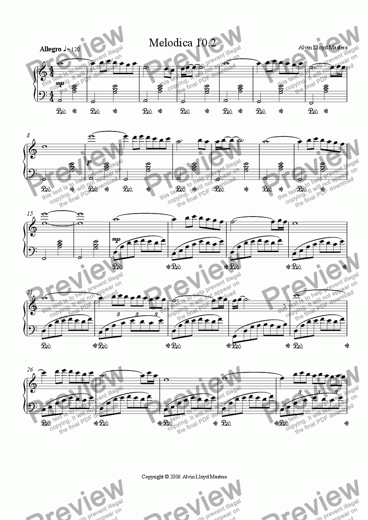 page one of Melodica 10.2