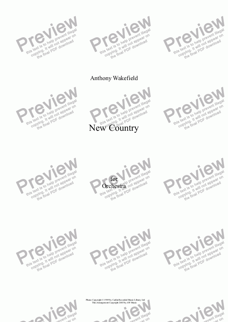page one of New Country
