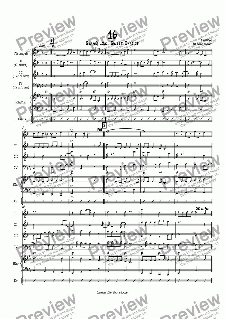 page one of Dixiechart 16. Swing Low, Sweet ChariotASALTTEXT