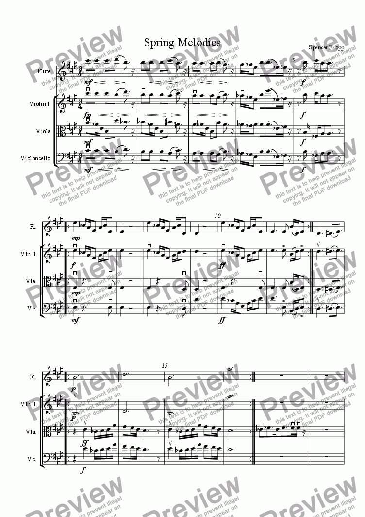 page one of Spring Melodies