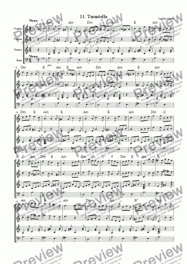 page one of Tarantella 11