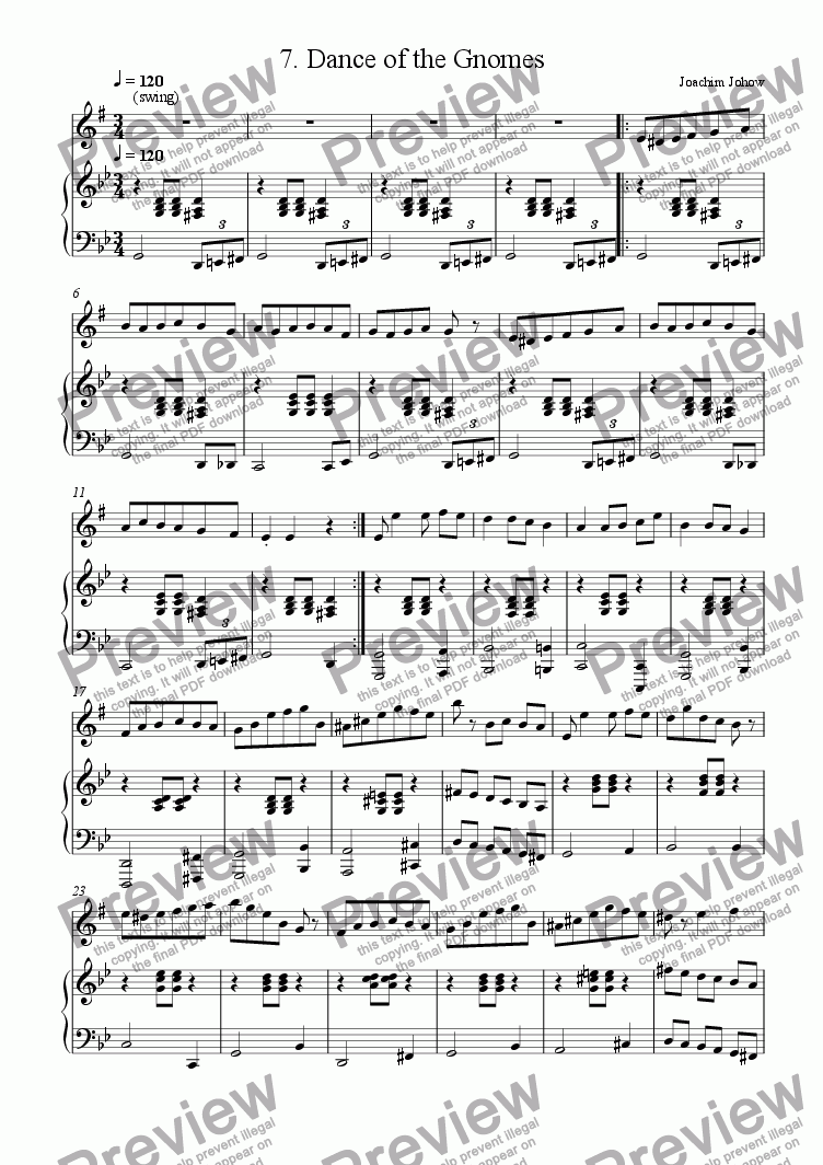 page one of Sax 07 (Dance of the Gnomes)