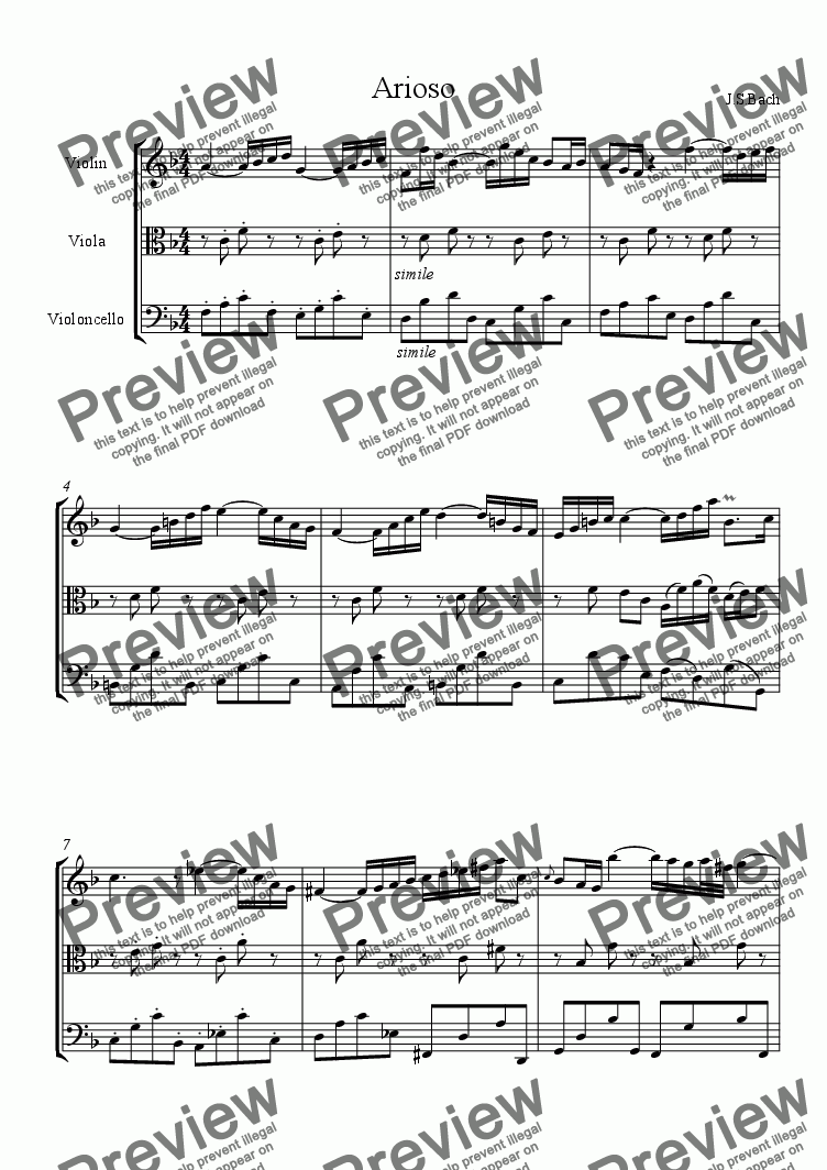 page one of Arioso [string trio]