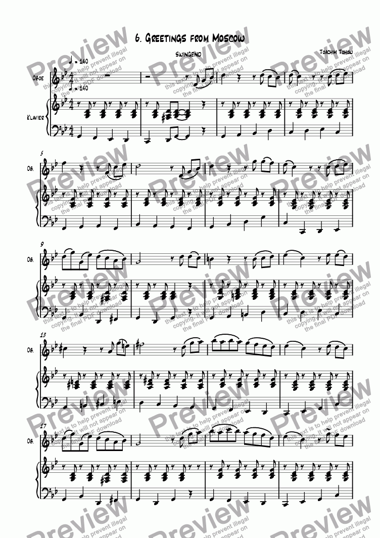 page one of Oboe Book 06 (Moscow)