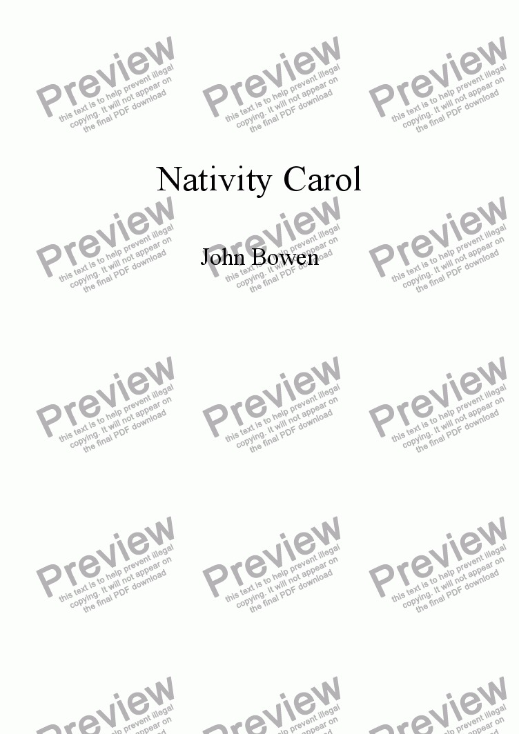 page one of Nativity Carol