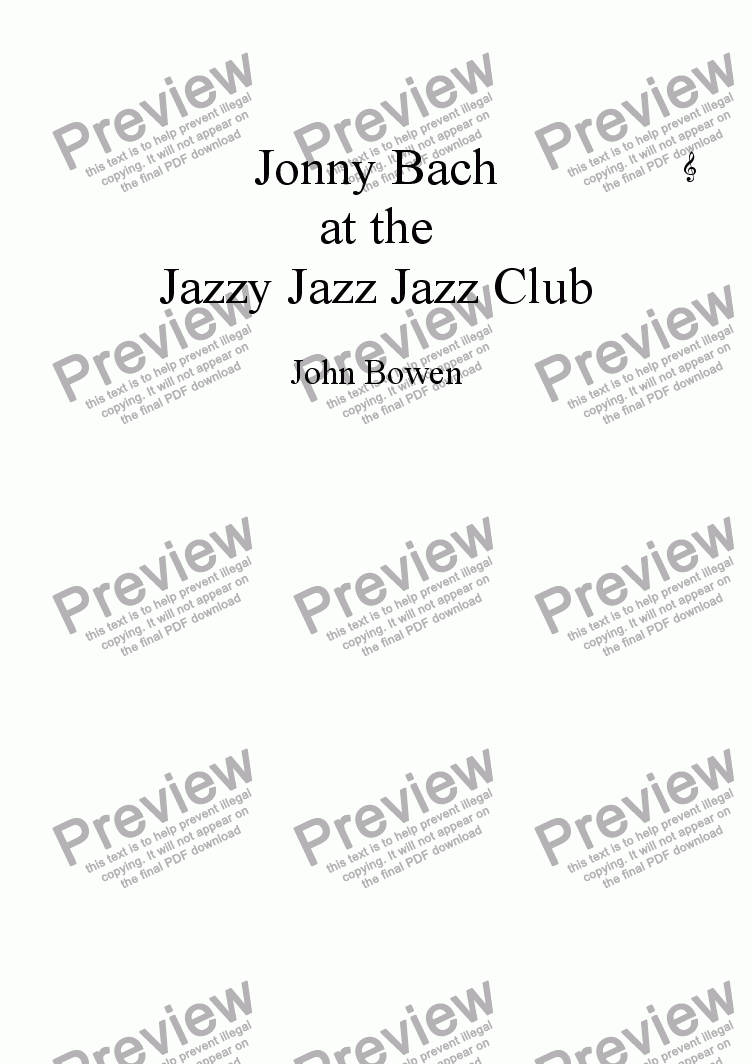 page one of Jonny Bach at the Jazzy Jazz Jazz ClubASALTTEXT