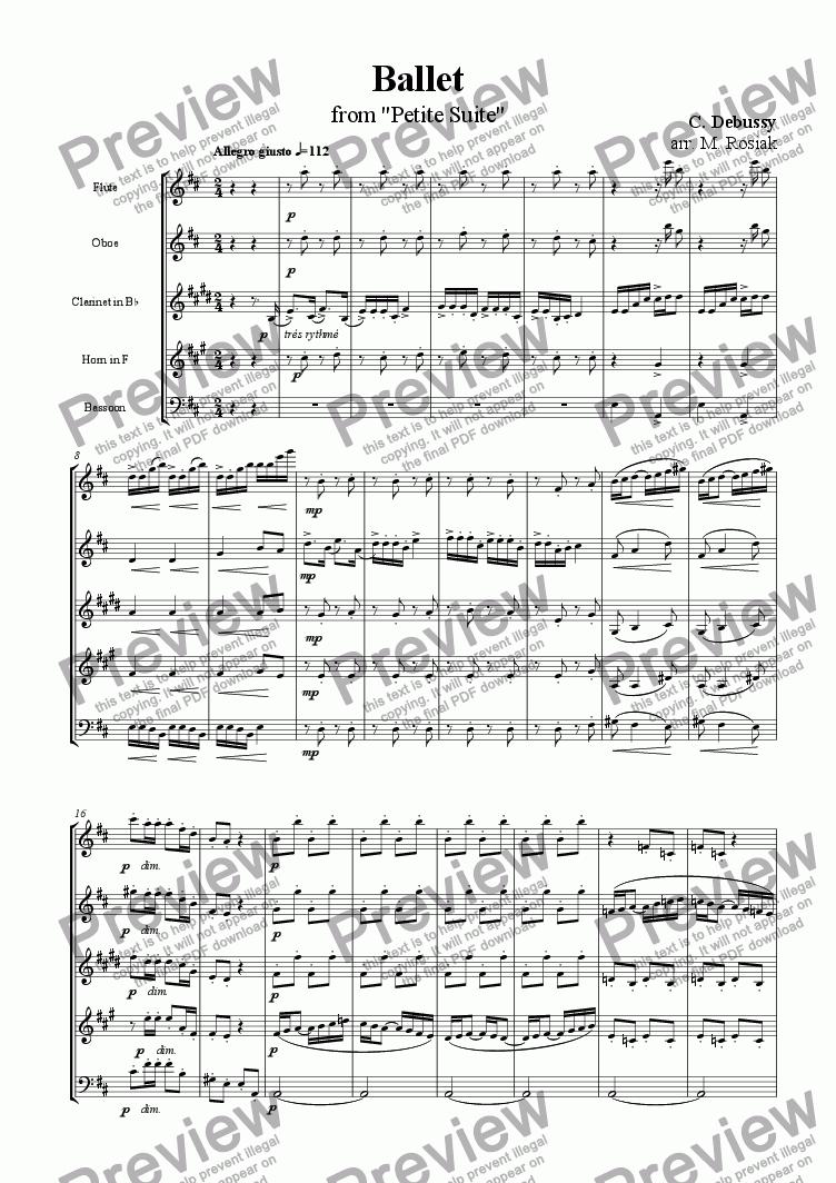 page one of Ballet from Petite Suite