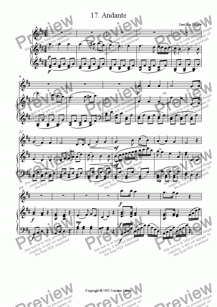 page one of Oboe Book 17 (Classic Andante)