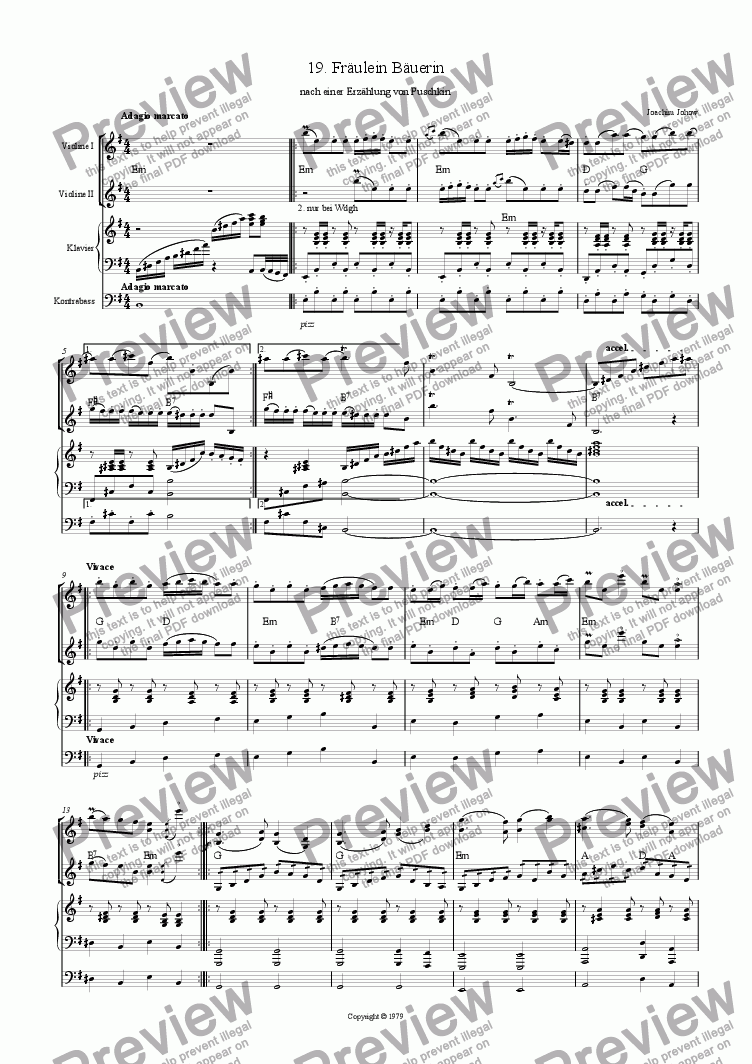 page one of Violin Book 19 (Fr�ulein B�uerin)