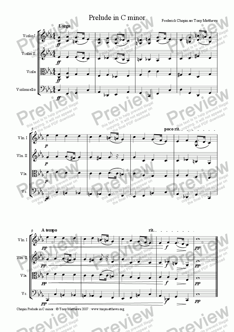 page one of Prelude in C minor . Op 28 No.20