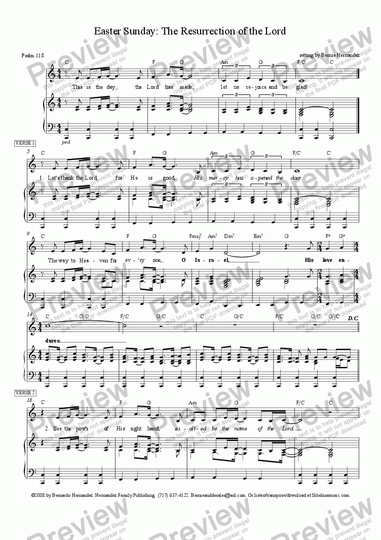 page one of Responsorial Psalm - Easter