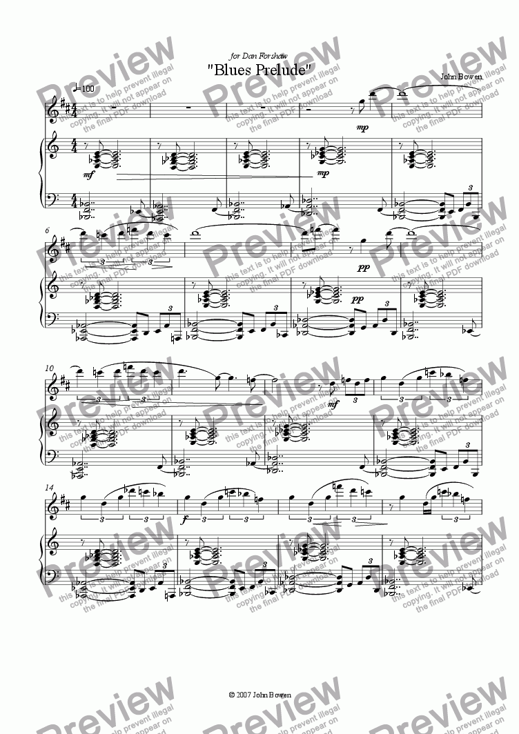 page one of Blues Prelude