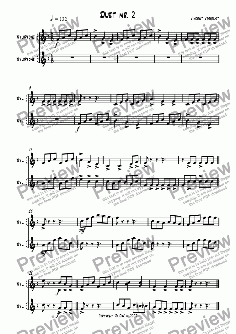 page one of Duet nr. 2ASALTTEXT