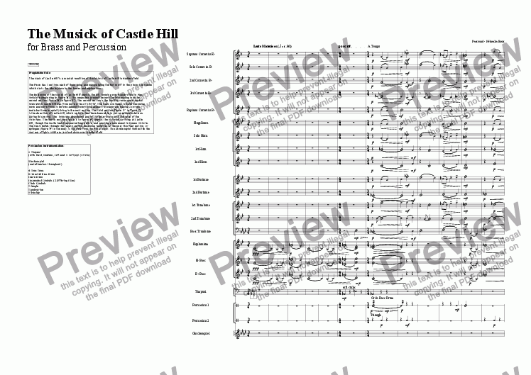 page one of The Musick of Castle HillASALTTEXT