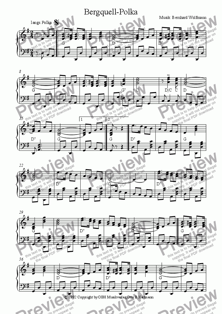 page one of Bergquell-Polka