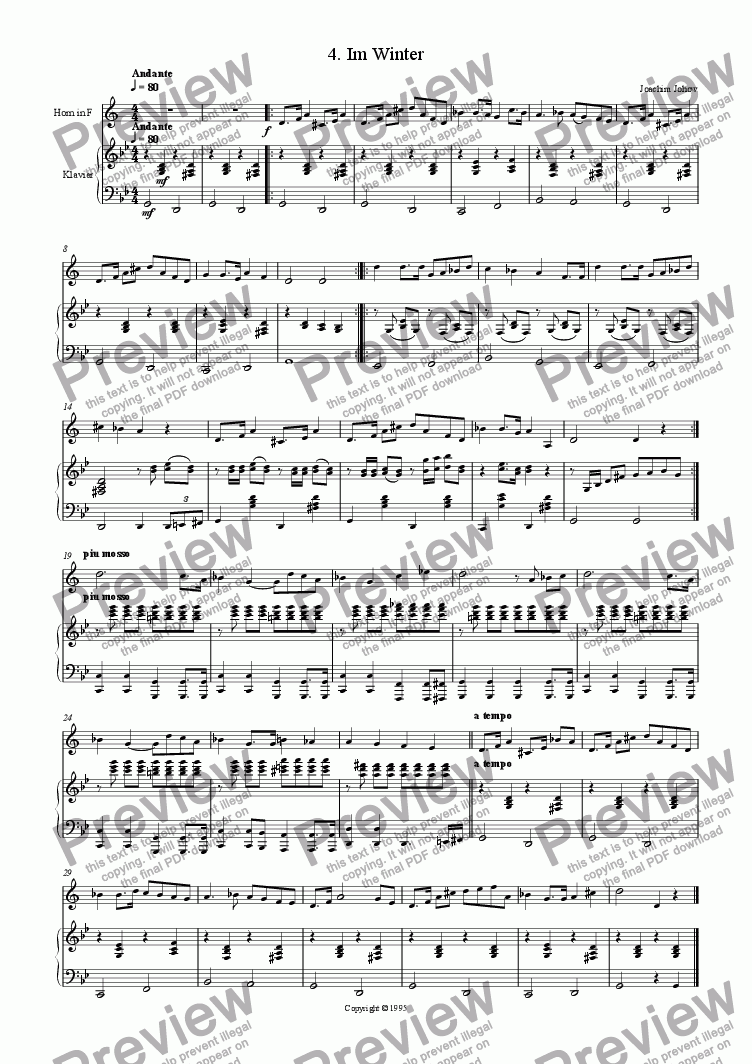page one of Horn Music 08 (Winter)