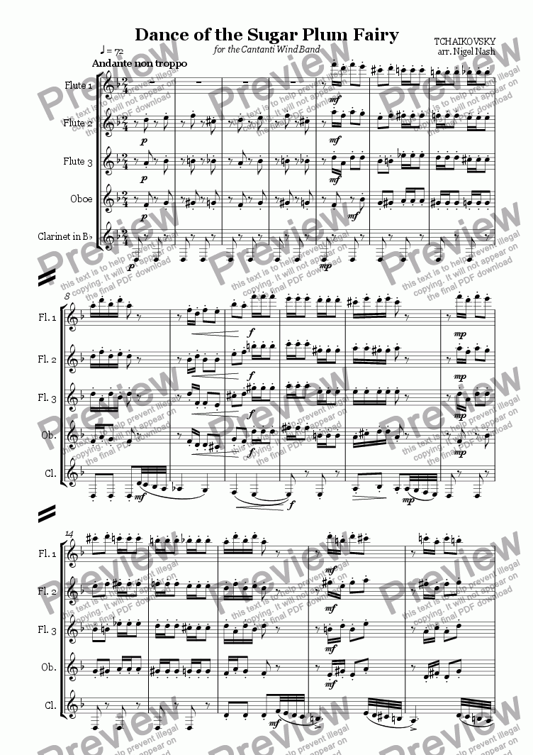 page one of Dance of the Sugar Plum Fairy