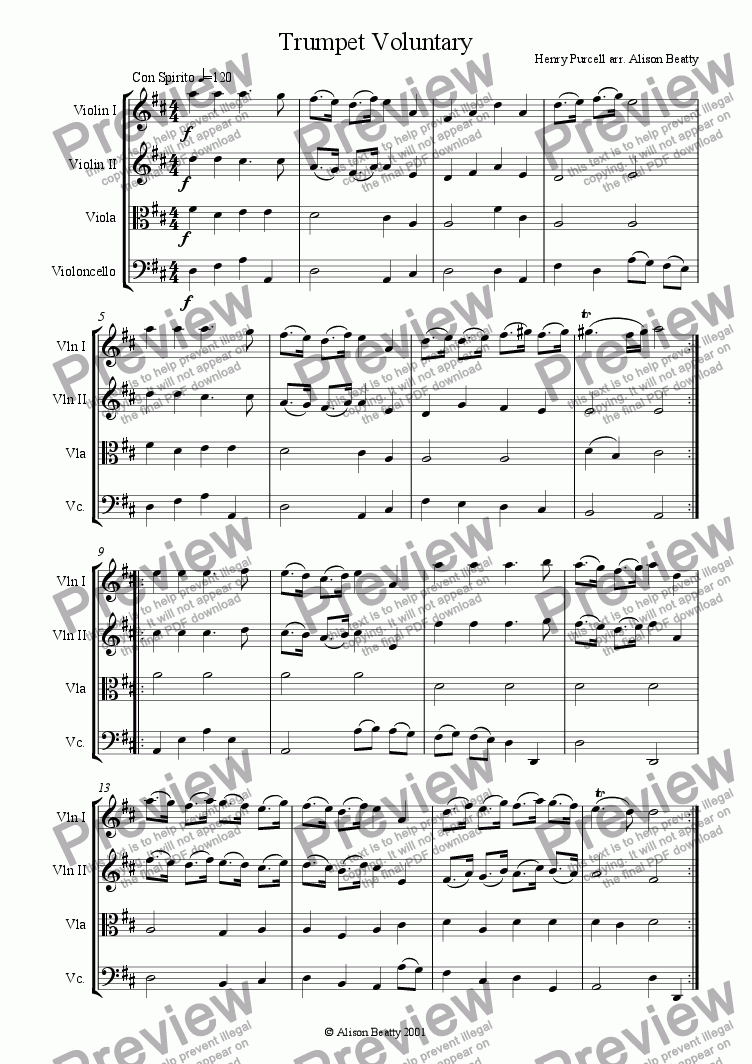 page one of Trumpet VoluntaryASALTTEXT