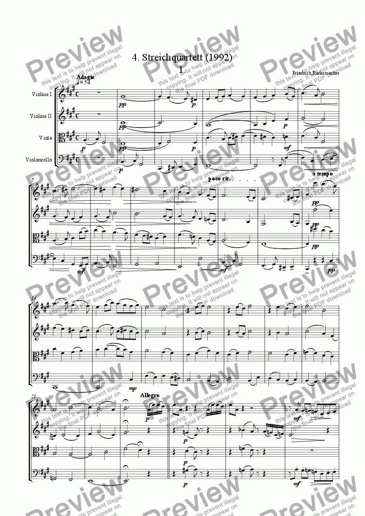 page one of 4. StringquartetASALTTEXT