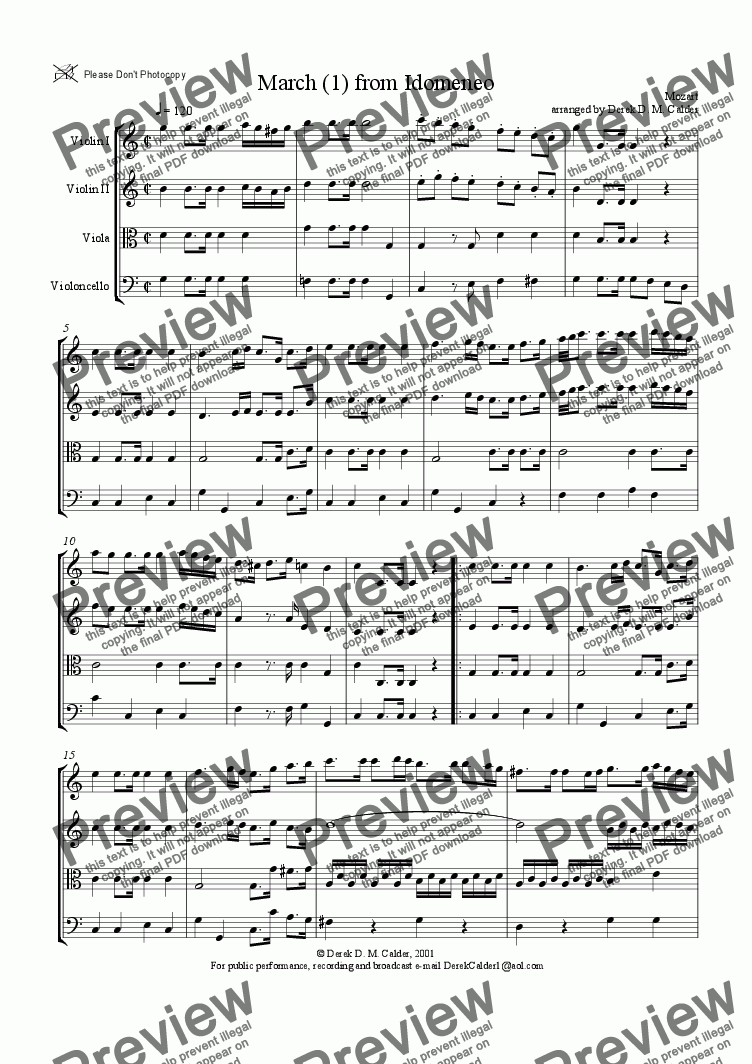 page one of March (1) from Idomeneo