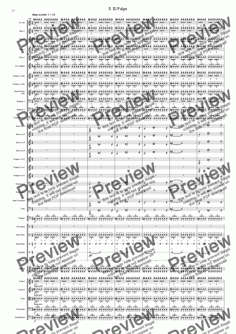 page one of Symphony No 38 8th movement