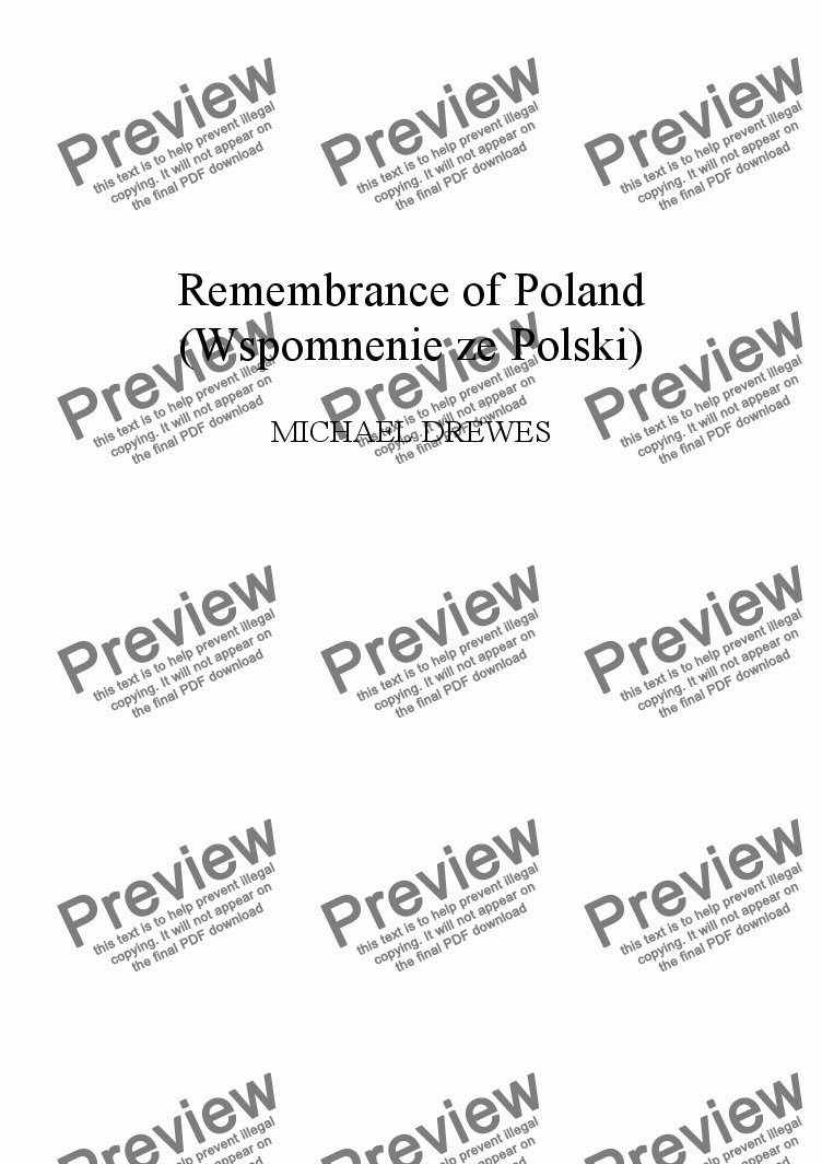 page one of Remembrances of Poland