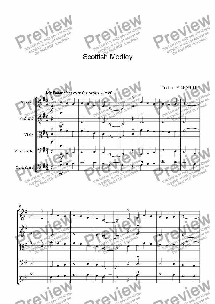 page one of Scottish Medley For Strings