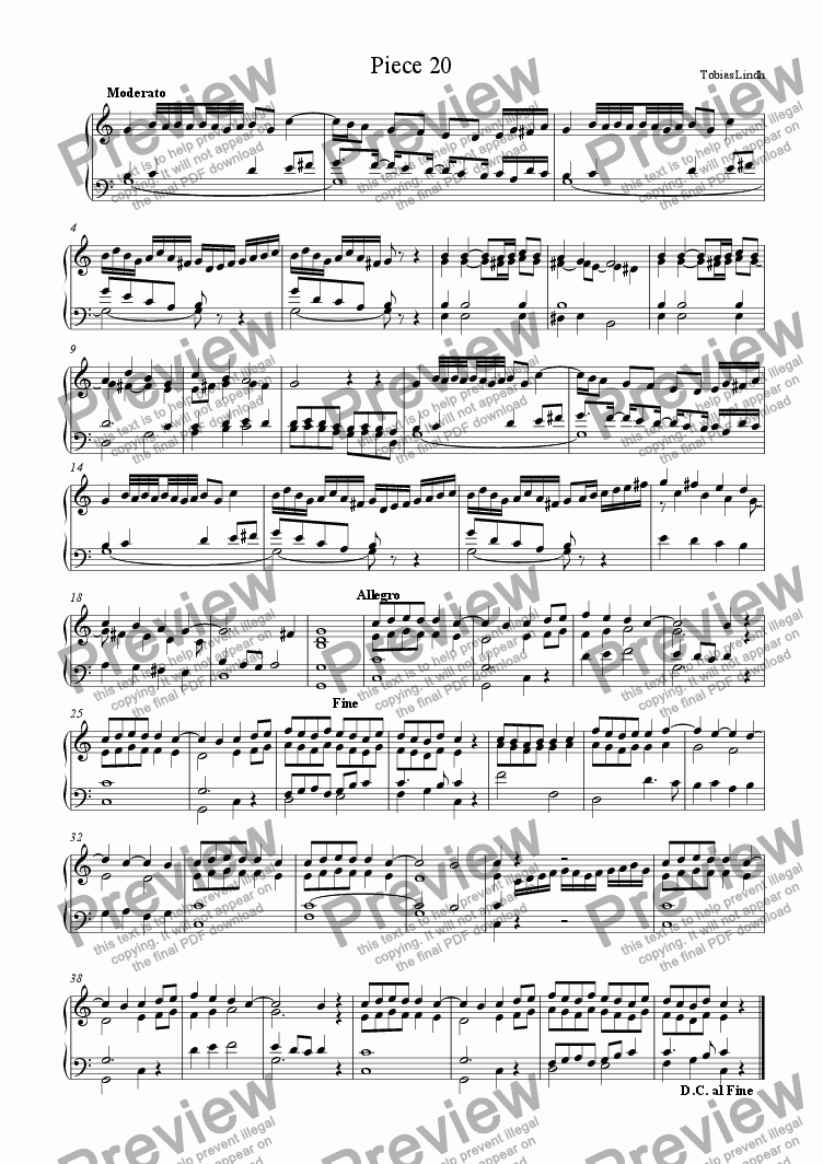 page one of Piece 20