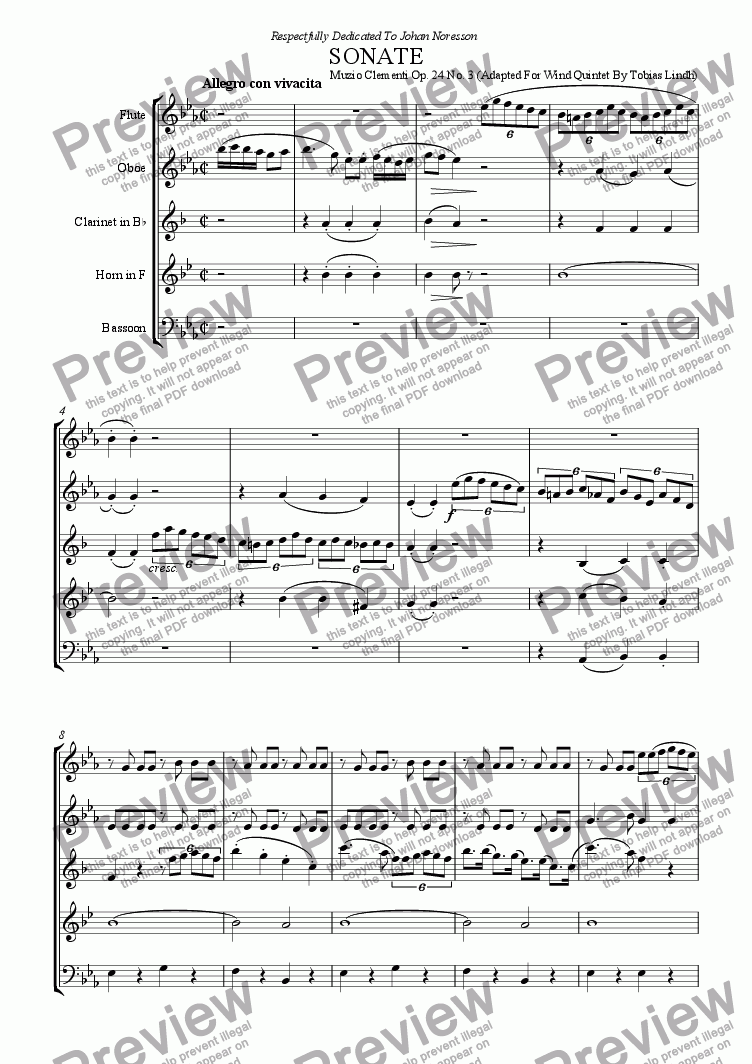 page one of Clementi SonateASALTTEXT