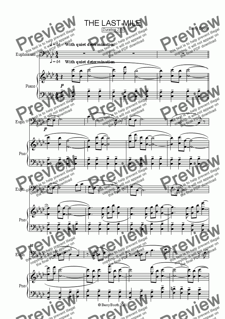 page one of The Last Mile (euphonium)