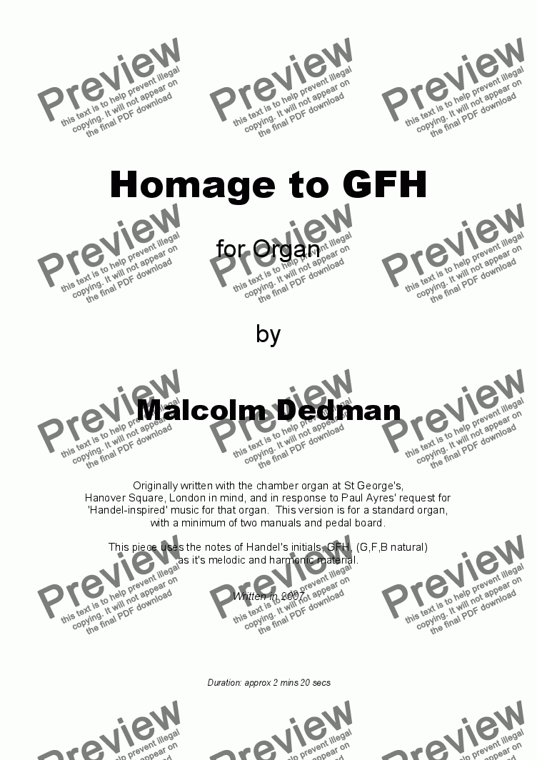 page one of Homage to GFHASALTTEXT