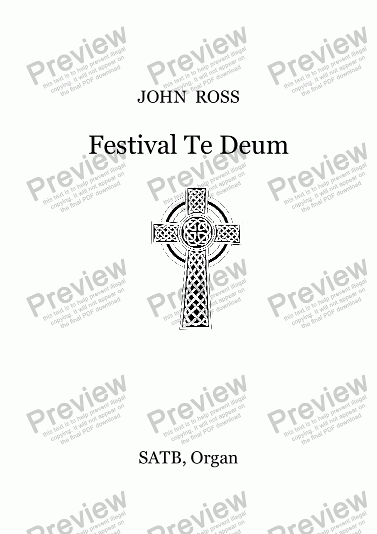 page one of Festival Te Deum