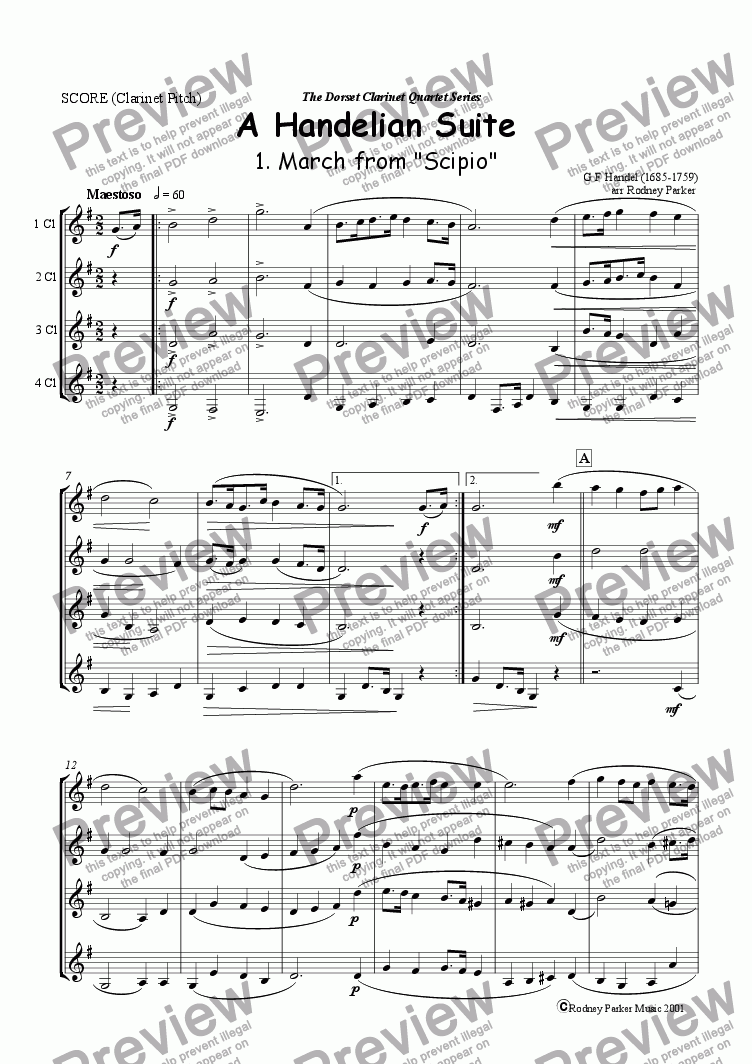 page one of A Handelian Suite