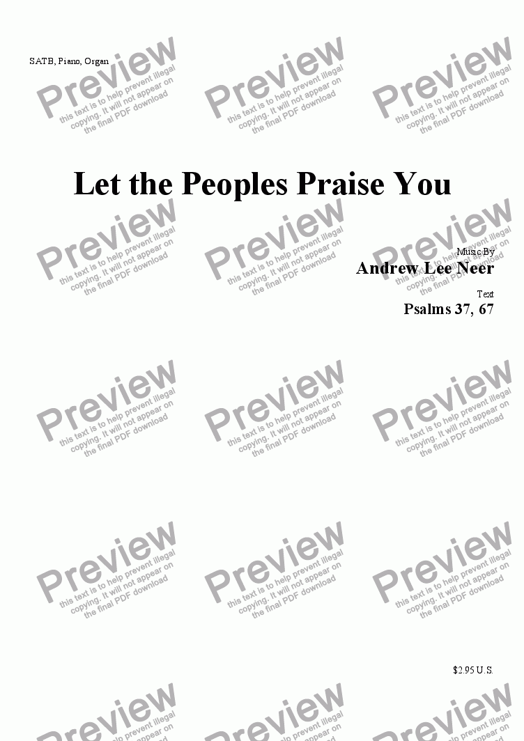 page one of Let the Peoples Praise You