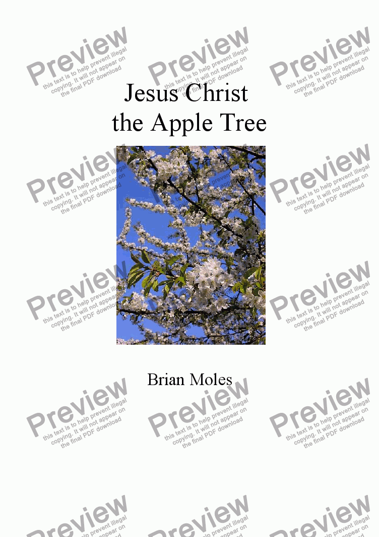 page one of Jesus Christ the Apple Tree