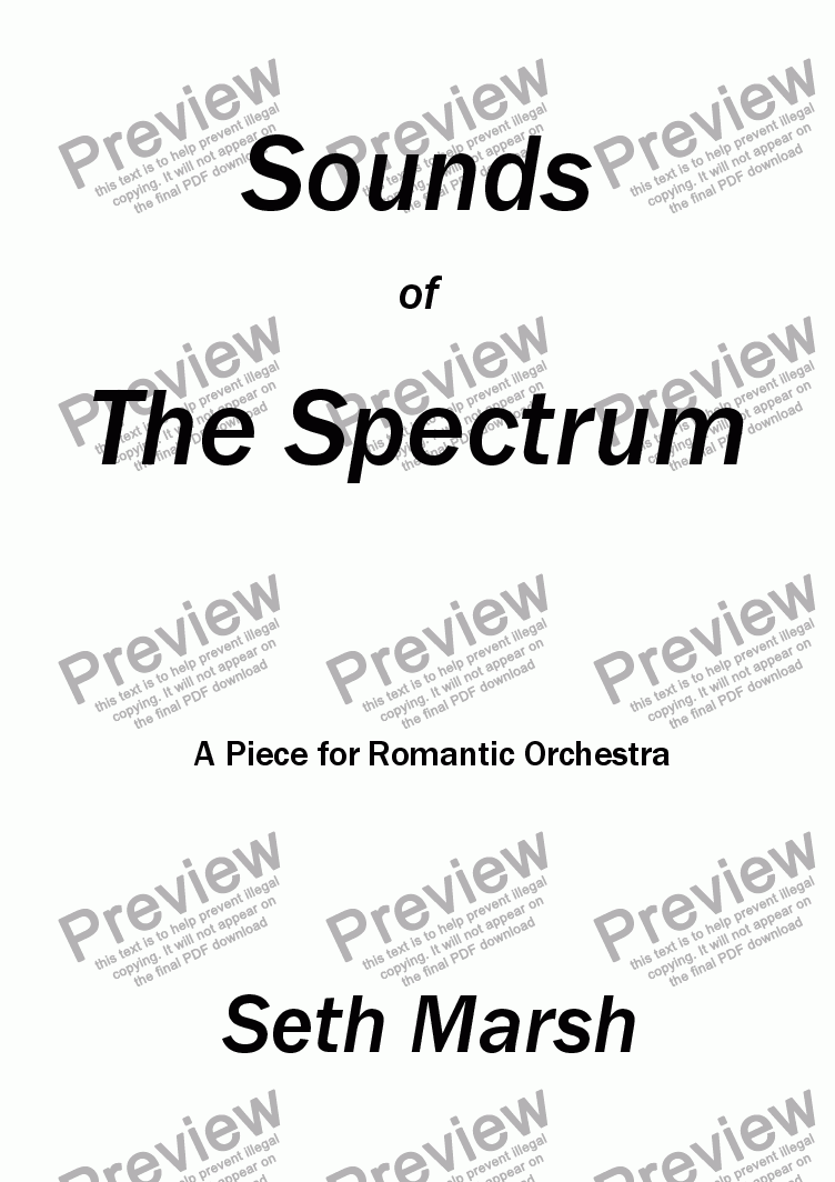 page one of Sounds of The Spectrum