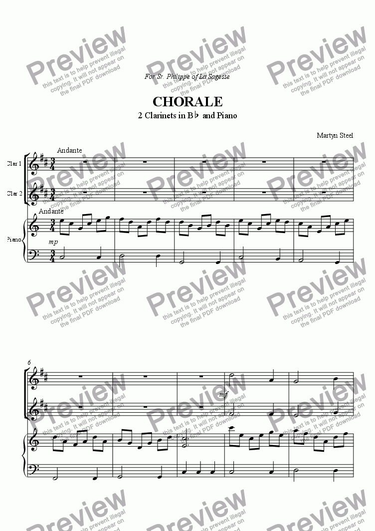 page one of ChoraleASALTTEXT